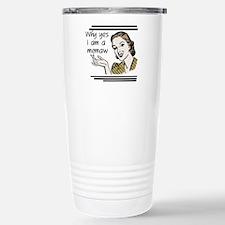 Retro Memaw Stainless Steel Travel Mug