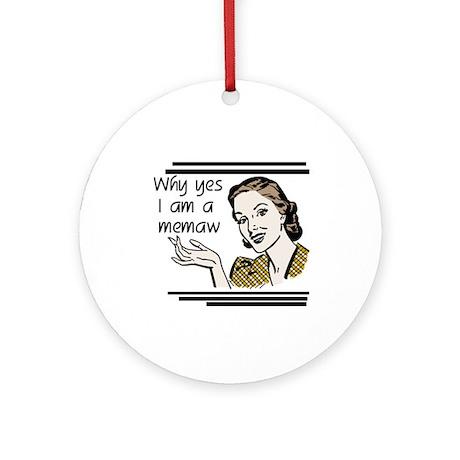 Retro Memaw Ornament (Round)