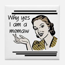 Retro Memaw Tile Coaster