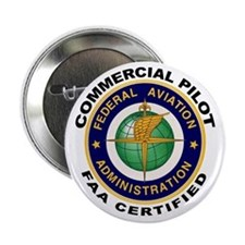 "Commercial Pilot 2.25"" Button"
