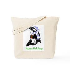 Christmas Orca Tote Bag