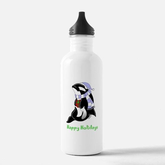 Christmas Orca Water Bottle