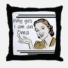Retro Oma Throw Pillow