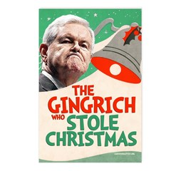 The Gingrich Who Stole Christmas (8 Post Cards)