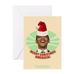 Obama Merry Christmas Greeting Card
