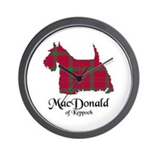 Terrier - MacDonald of Keppoch Wall Clock