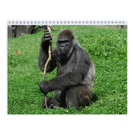 Grand Gorillas Wall Calendar