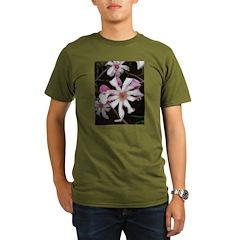 .pink star magnolia. Organic Men's T-Shirt (dark)