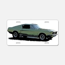 67 Mustang 4 Aluminum License Plate