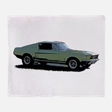 67 Mustang 4 Throw Blanket