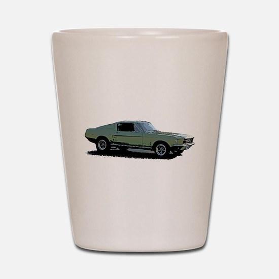 67 Mustang 4 Shot Glass