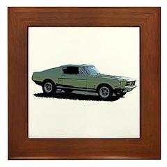 67 Mustang 4 Framed Tile