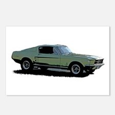 67 Mustang 4 Postcards (Package of 8)