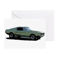 67 Mustang 4 Greeting Card