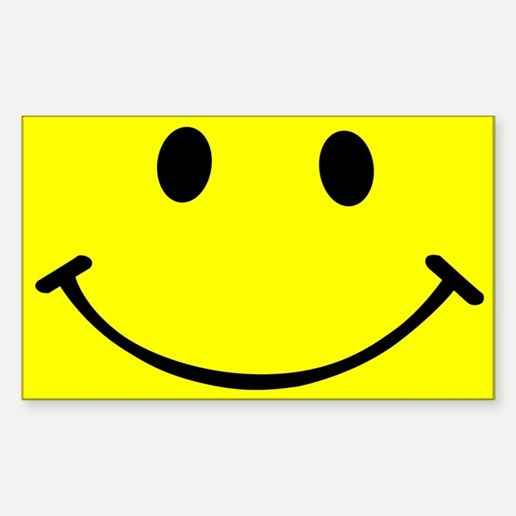 Smiley Yellow Sticker (Rectangle)