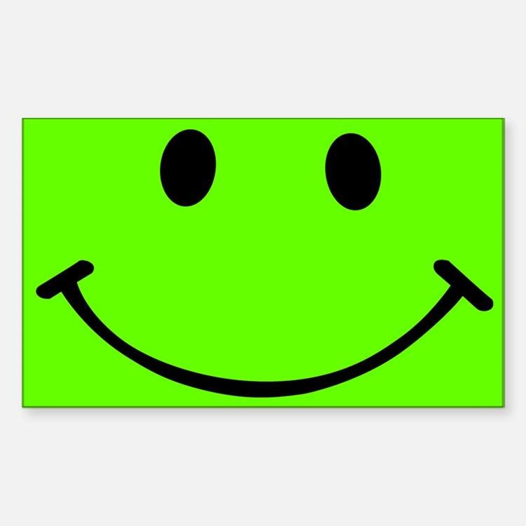 Smiley Green Decal