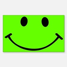 Smiley Green Sticker (Rectangle)