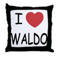 I heart waldo Throw Pillow