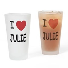 I heart julie Drinking Glass