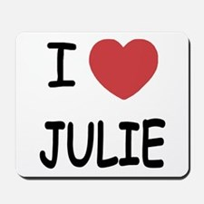 I heart julie Mousepad