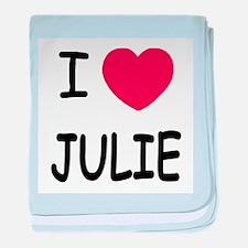 I heart julie baby blanket