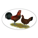 Old English Pheasant Fowl Sticker (Oval 50 pk)