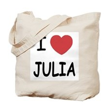 I heart julia Tote Bag