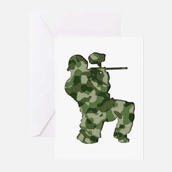 Paintball, Camo Greeting Cards (Pk of 10)