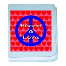 Peace Symbol baby blanket