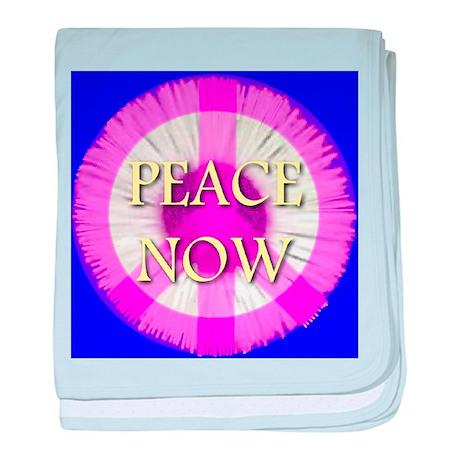 Peace Now Daisy Fleabane baby blanket