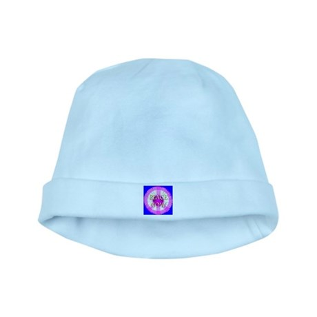 Peace Now Daisy Fleabane baby hat