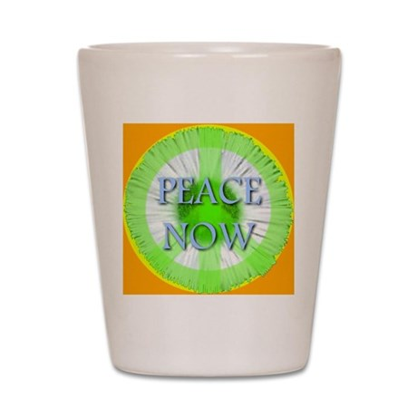 Peace Now Symbol Daisy Fleaba Shot Glass