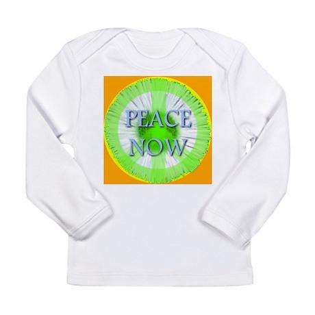 Peace Now Symbol Daisy Fleaba Long Sleeve Infant T