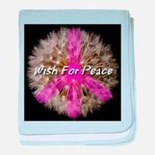 Wish For Peace Dandelion baby blanket
