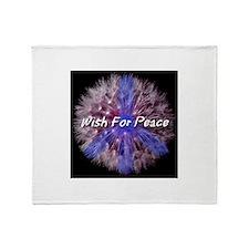 Wish For Peace Dandelion Throw Blanket