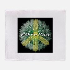 Wish For Peace Dandelion Throw Blanket