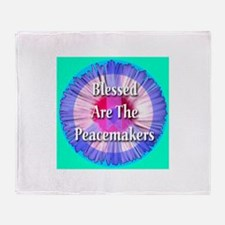 Blessed Are The Peacemakers Throw Blanket