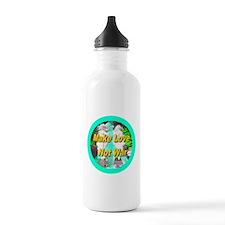 Make Love Not War Peace Symbo Water Bottle