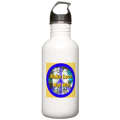 Make Love Not War King's Gold Stainless Water Bott