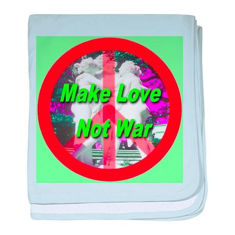 Make Love Not War Three Grace baby blanket