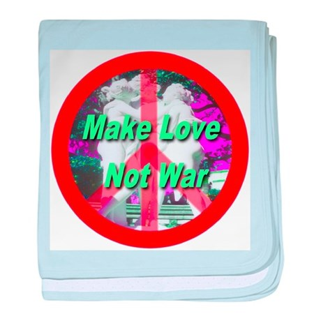 Make Love Not War Three Grace baby blanket