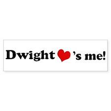 Dwight Loves Me Bumper Bumper Sticker