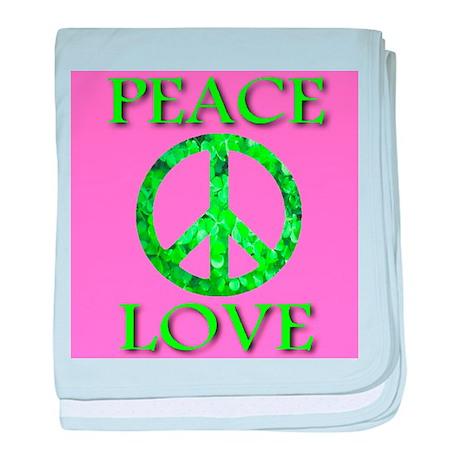 Shamrock Peace Symbol baby blanket