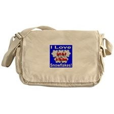 I Love Snowflakes Messenger Bag