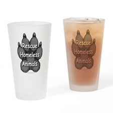 Rescue Homeless Animals Drinking Glass