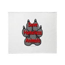 Save Homeless Animals Throw Blanket