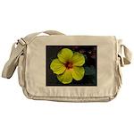 .yellow hibiscus. Messenger Bag