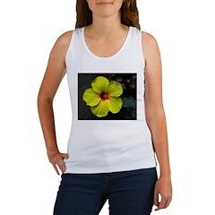 .yellow hibiscus. Women's Tank Top