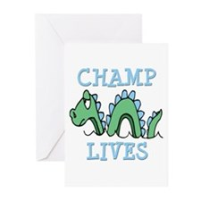 Champ Lives Greeting Cards (Pk of 10)