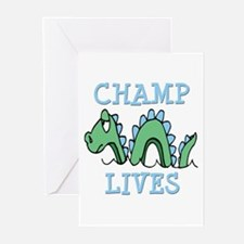 Champ Lives Greeting Cards (Pk of 20)
